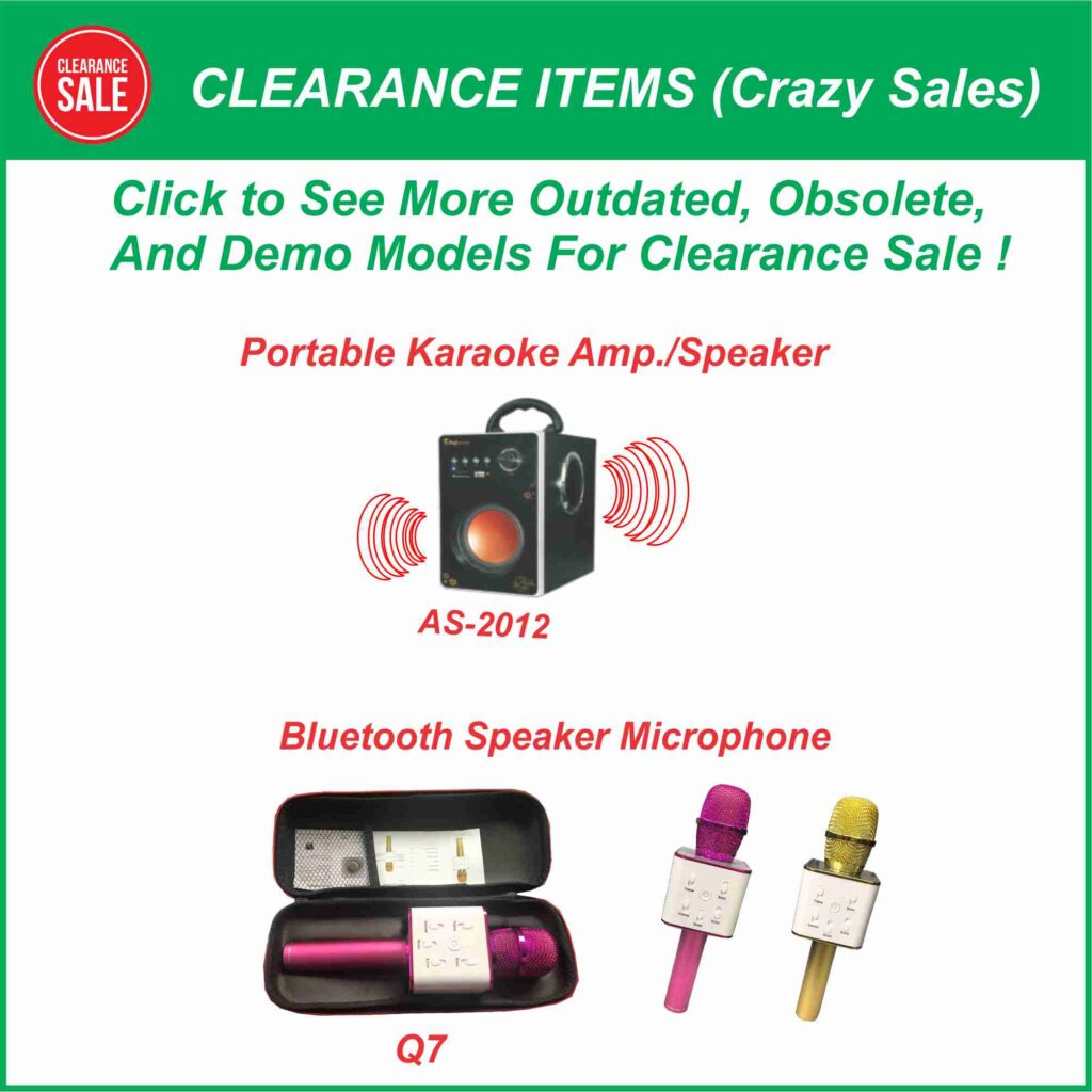 Clearance Items (Crazy Sales)
